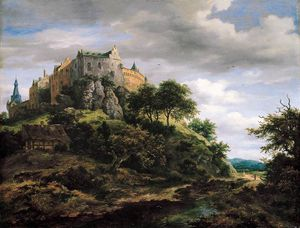 Jacob Isaakszoon Van Ruisdael (Ruysdael) - View of Bentheim Castle from the North-West