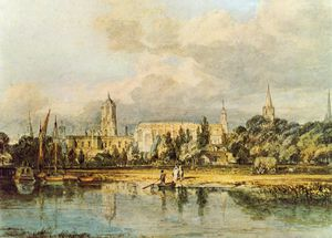 William Turner - South View of Christ Church from the Meadows