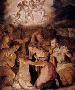 Giorgio Vasari - The Nativity With the Adoration of the Shepherds