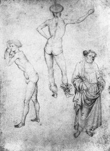 Pisanello - Nude men and st peter