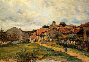 Edmond Marie Petitjean - Peitjean edmond the village road