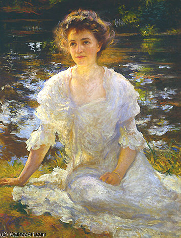 famous painting Portrait of Eleanor Hyde Phillips HTG of Edmund Charles Tarbell