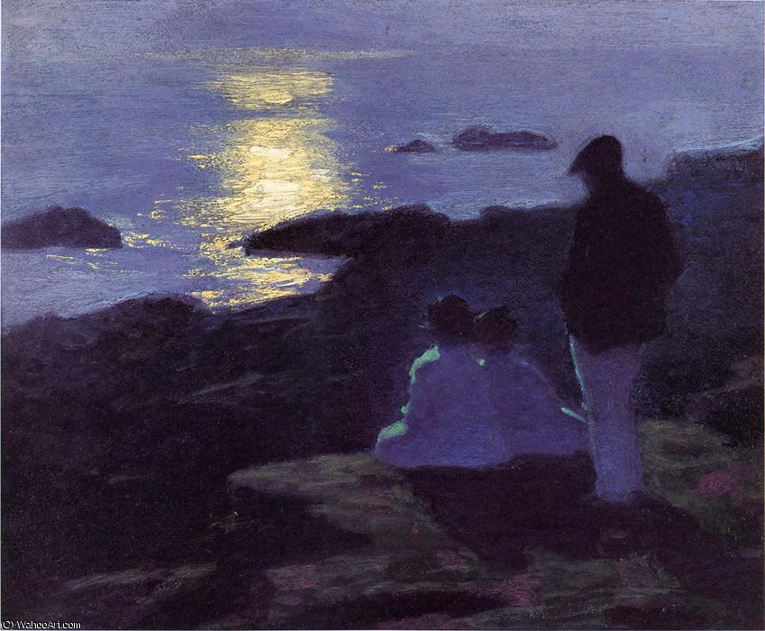 famous painting a summer-s night of Edward Henry Potthast