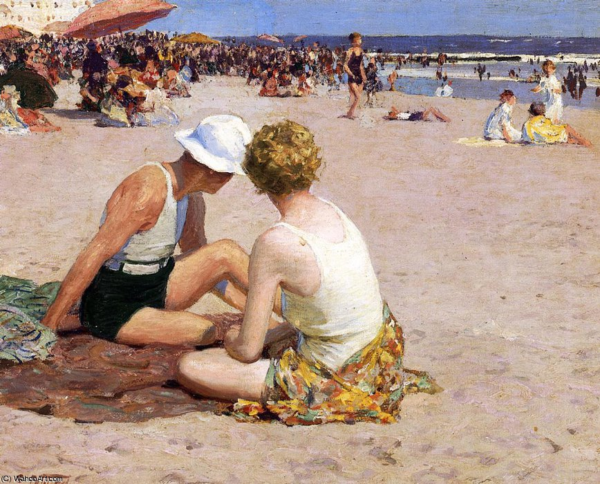 famous painting a summer vacation of Edward Henry Potthast