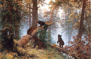Ivan Ivanovich Shishkin - Morning in the Pine tree Forest