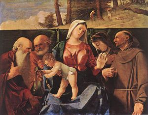 Lorenzo Lotto - Madonna and Child with Saints