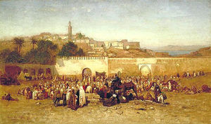 Louis Comfort Tiffany - Market Day Outside the Walls of Tangier