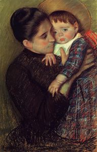 Mary Stevenson Cassatt - Woman and Her Child aka Helene de Septeuil