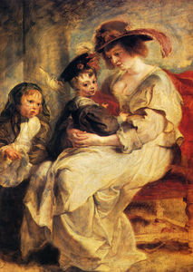 Peter Paul Rubens - Helene fourment with two of her children claire jeanne and francois