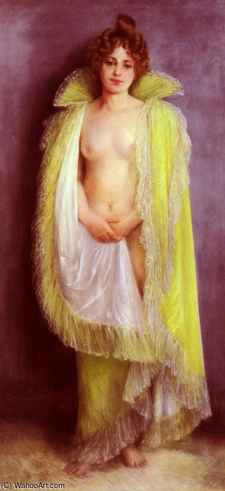 famous painting Femme en deshabillee verte of Albert Ernest Carrier Belleuse