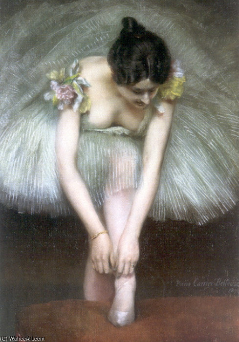 famous painting Before the Ballet of Albert Ernest Carrier Belleuse