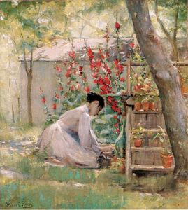 Robert Lewis Reid - Tending the Garden