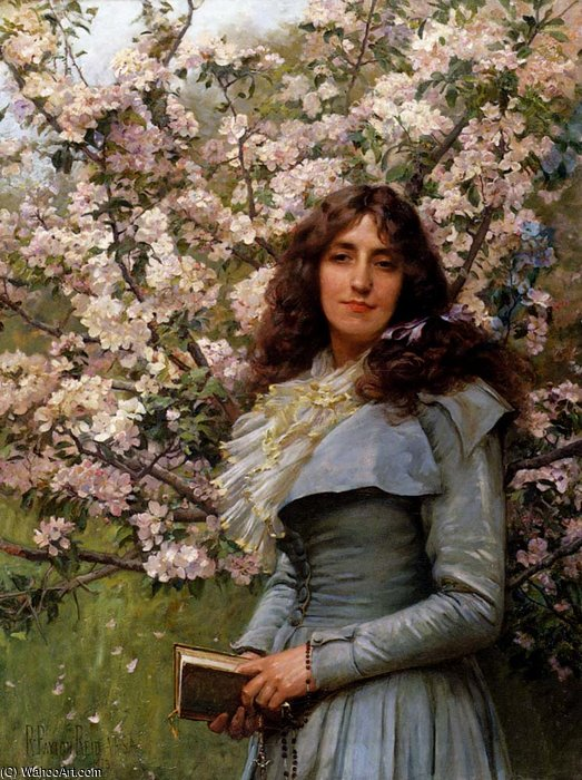 famous painting Payton serenity of Robert Lewis Reid