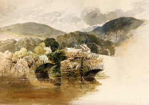 Samuel Palmer - Beddgelert Bridge North wales