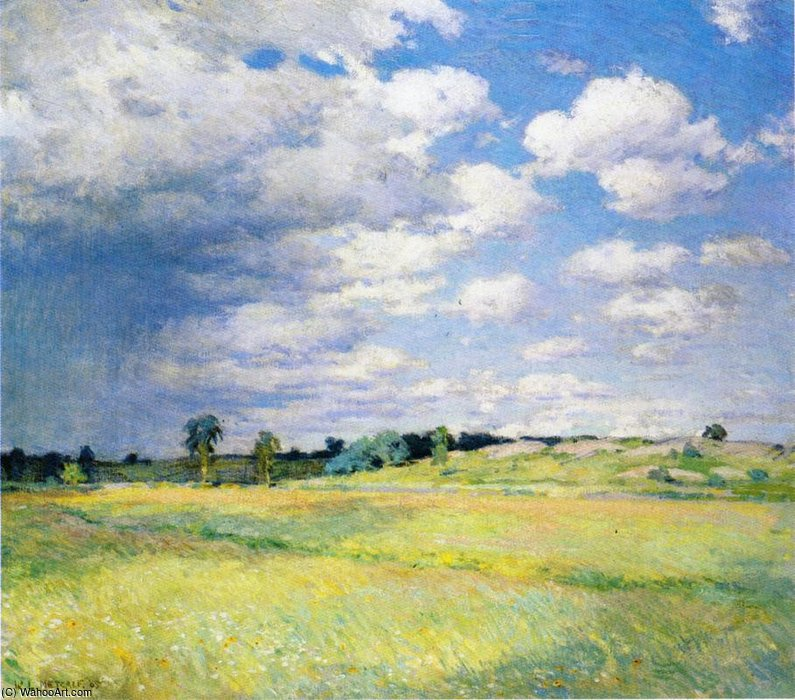 famous painting flying shadows of Willard Leroy Metcalf