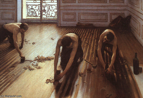 famous painting French, ) of Gustave Caillebotte