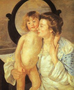 Mary Stevenson Cassatt - Oval mirror