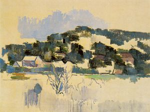 Paul Cezanne - Houses on the hill (river bank),1900-06, mcnay art i