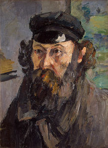 Paul Cezanne - Self-Portrait in a Casquette, Ca E