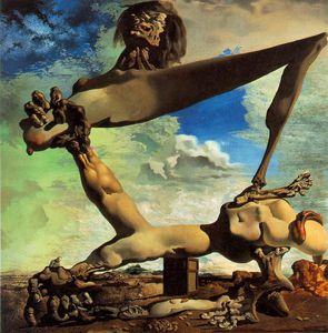 Salvador Dali - Dalí soft construction with boiled beans - premonition of civ