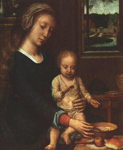 Gerard David - The Madonna of the Milk Soup, approx. oil on