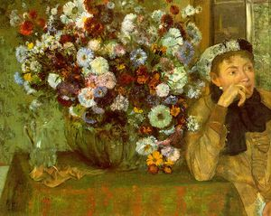 Edgar Degas - Madame Valpinçon with Chrysanthemums