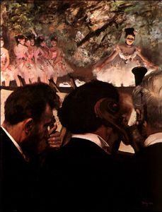 Edgar Degas - At ballet,