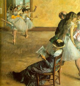 Edgar Degas - Ballet Class, oil on canvas, Philadelphia Museum