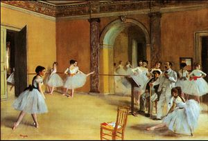 Edgar Degas - Dance lesson,