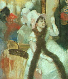 Edgar Degas - Portrait after a Costume Ball (Portrait of Madame Diet