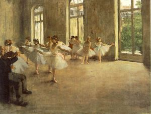 Edgar Degas - The rehearsal, ca Fogg Art Museum