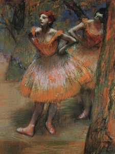 Edgar Degas - Two Dancers, pastel on paper, The Art Institute