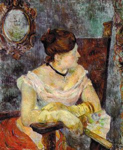 Paul Gauguin - Madame Mette Gauguin in Evening Dress, oil on