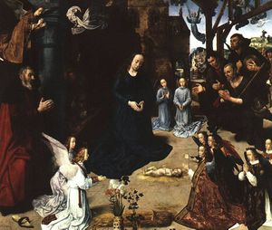 Hugo Van Der Goes - portinari triptych - the adoration of the she