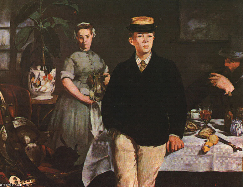 famous painting The Luncheon in the Studio of Edouard Manet