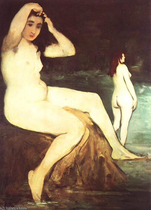 famous painting Bathers on the Seine, unfinished of Edouard Manet