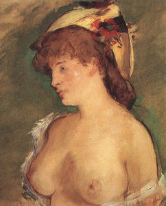 Edouard Manet - Blond Woman with Bare Breasts