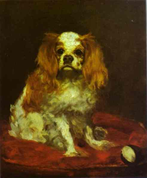famous painting A king charles spaniel of Edouard Manet