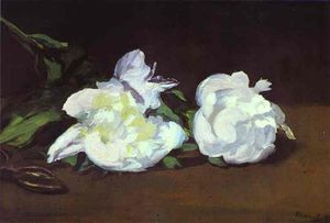 Edouard Manet - Branch of White Peonies and Shears