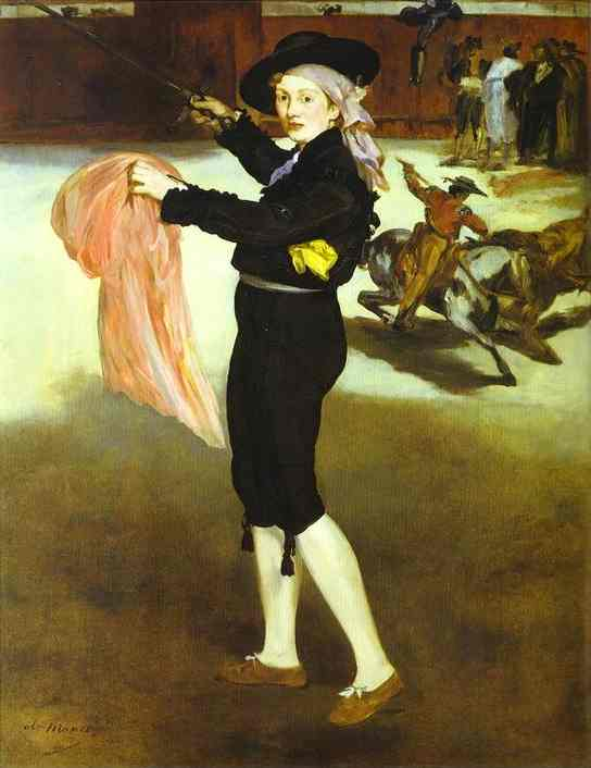 famous painting Mlle Victorine Meurent in the Costume of an Espada of Edouard Manet