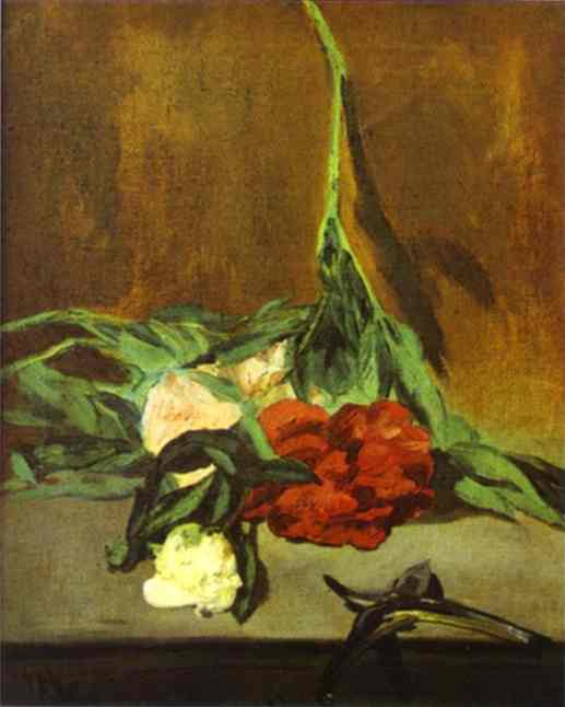 famous painting Peony Stem and Shears of Edouard Manet