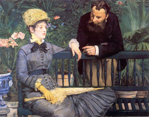 Edouard Manet - In the Conservatory Study of and Mme Jules Guillemet