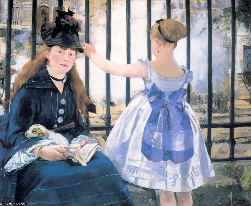 famous painting Le chemin de fer the railroad of Edouard Manet