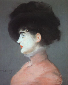 Edouard Manet - Irma Brunner (Woman in a Black Hat), pastel o