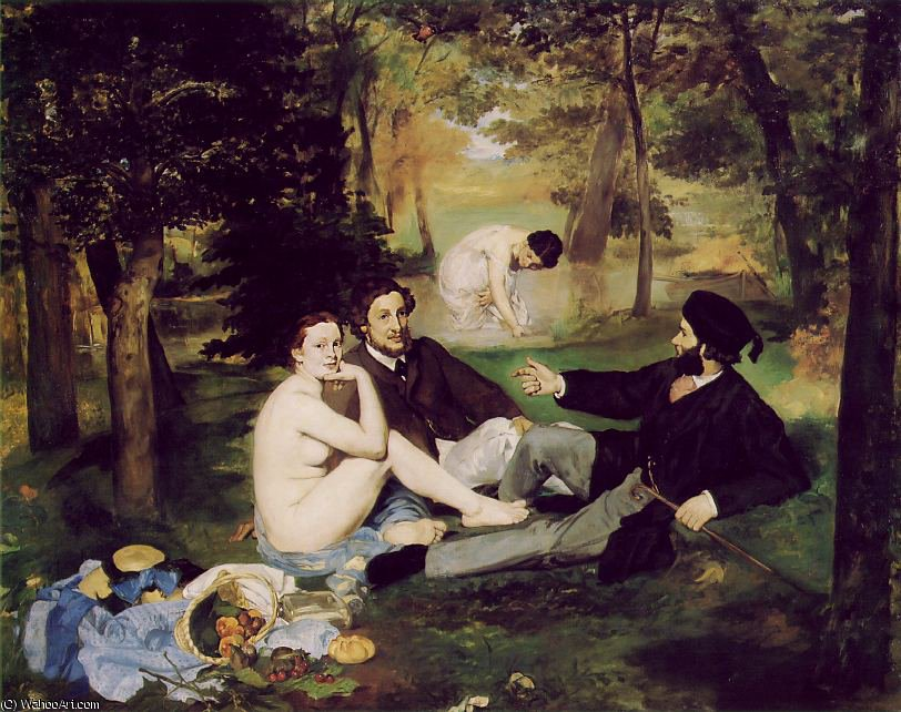 famous painting Le dejeuner sur l'herbe, Musee d'Ors of Edouard Manet