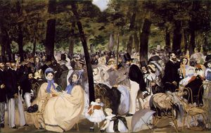 Edouard Manet - Music in the Tuileries, National Gall