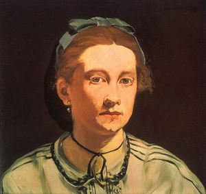 Edouard Manet - Portrait of Victorine Meurent, Museum of Fine Ar