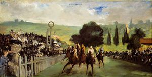 Edouard Manet - Races at Longchamp, ca The Art Ins