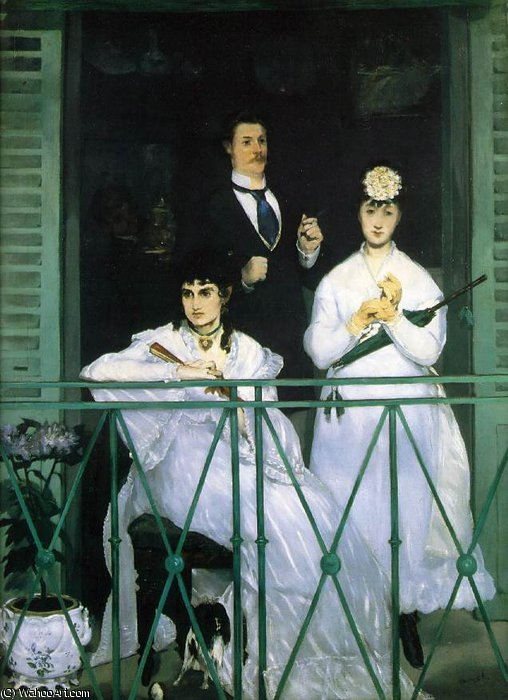 famous painting The balcony, Musee d'Orsay, Paris of Edouard Manet