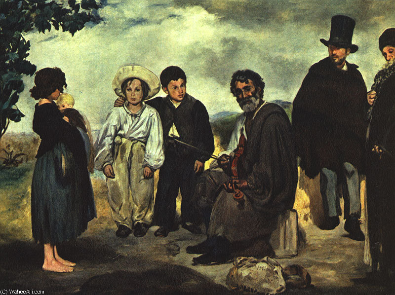 famous painting The Old Musician, canvas, National Gallery of Ar of Edouard Manet
